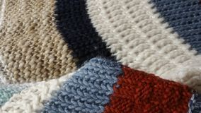 Colorful knitted background. In different colors Stock Photography
