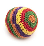 Colorful knitted ball Stock Photos