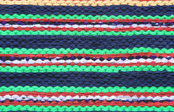 Colorful knitted cloth reuse close Stock Image