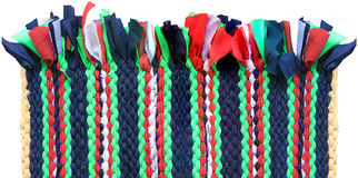 Colorful knitted cloth reuse close Royalty Free Stock Images