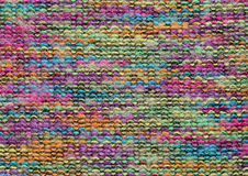 Colorful knitted fabric Royalty Free Stock Images