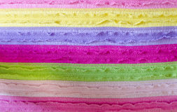 Colorful knitted fabric texture background Stock Images
