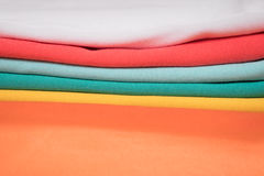 Colorful knitted fabrics Stock Images