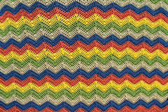 Colorful Knitted Throw Stock Photography