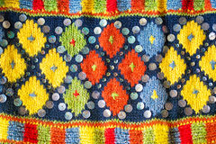 Colorful knitting background close up Royalty Free Stock Images