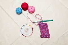 Colorful knitting and thread Royalty Free Stock Photo