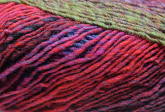 Colorful knitting wool. Detail of a colorful knitting wool royalty free stock image