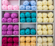 Colorful Knitting Wool Royalty Free Stock Images