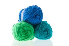 Colorful knitting wool Royalty Free Stock Image