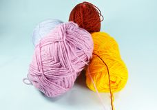 Colorful knitting wool Royalty Free Stock Photo