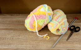 Colorful knitting wool Stock Photography