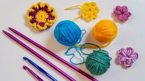Colorful knitting Royalty Free Stock Photo