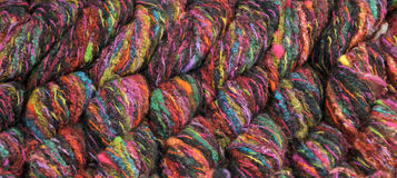 Colorful knitting yarn Royalty Free Stock Photography