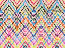 Colorful knitwear with multi color of the rope as a background. stock images