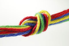 Colorful knot Stock Photo