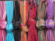 Colorful Knotted Scarves, Plaka, Athens Royalty Free Stock Image