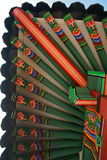 Korean Wooden Roof. Colorful of Korean Wooden Roof Royalty Free Stock Image
