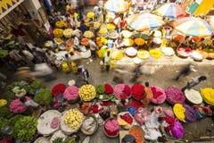 KR Flower Market, Bangalore, India royalty free stock photo