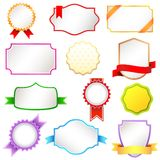 Colorful Label Royalty Free Stock Photos