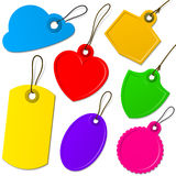 Colorful label collection Royalty Free Stock Images