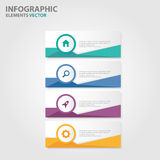 Colorful label Infographic presentation templates flat design set for brochure flyer leaflet marketing Stock Photo