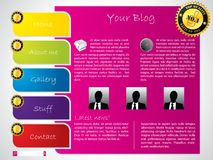 Colorful label website template Stock Images