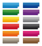 Colorful labels. Collection of colorful adhesive labels Royalty Free Stock Images