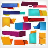 Colorful labels. Professional business catalog template or corporate brochure design with inner pages Stock Images
