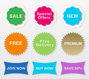 Colorful labels Royalty Free Stock Photography