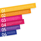 Colorful labels with place for your message. Vector art Royalty Free Stock Photos
