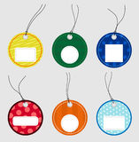 Colorful labels stock illustration