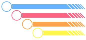 Colorful labels with round end Royalty Free Stock Images