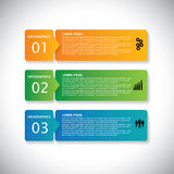Colorful labels with sequence of steps - infographic vector illustration