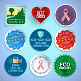 Colorful labels and stickers royalty free illustration