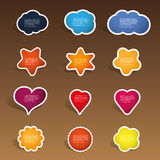 Colorful Labels, Tags Stock Image