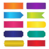 Colorful Labels Tags Banners Design Royalty Free Stock Photo