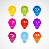 Colorful Labels, Tags Set Stock Image