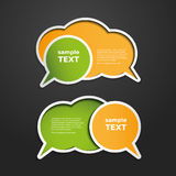 Colorful Labels, Tags, Speech Bubbles Stock Image