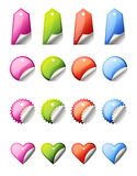 Colorful  lables Royalty Free Stock Photos