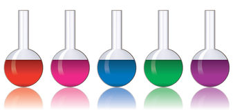 Colorful laboratory glassware Stock Photos