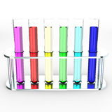Colorful laboratory test tubes, 3d Stock Photos