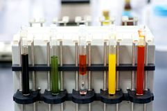 Colorful Laboratory Test tubes Royalty Free Stock Photos