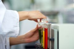 Colorful Laboratory Test tubes Stock Images