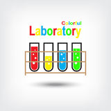 Colorful Laboratory Vector Royalty Free Stock Image
