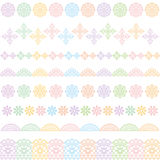 Colorful lace lines. lace trim. Lines of colorful lace trim. vector illustration Royalty Free Stock Image