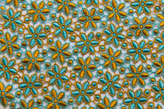 Colorful lace on white background. No any trademark or restrict matter in this photo.  Royalty Free Stock Image