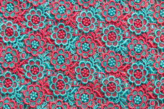 Colorful lace on white background. No any trademark or restrict matter in this photo Royalty Free Stock Photography