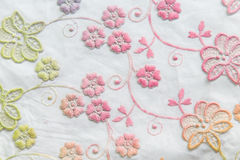 Colorful lace on white background. No any trademark or restrict matter in this photo Royalty Free Stock Image