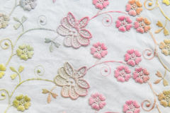 Colorful lace on white background. No any trademark or restrict matter in this photo.  Royalty Free Stock Photos