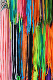 Colorful laces Stock Photography